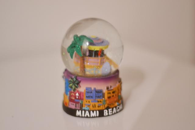 Globinho que trouxe da viagem a Miami.